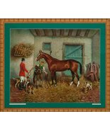 'Fox-Hunter in Stall' by Richard Newton Jr Ex: Gillian DuPont Marshall, Va - $1,400.00