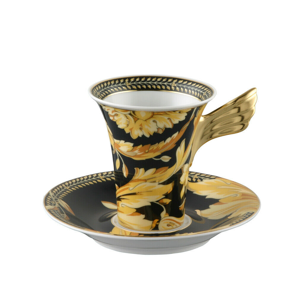 Primary image for Versace by Rosenthal Ikarus Vanity Cup & saucer 4 tall (Set of 6)