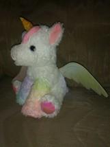 "Barbie Mattel Just Play Unicorn Plush 16"" No Sound Doesnt Work Iridescent Wings - $18.80"
