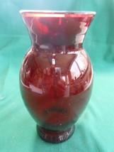 Beautiful Vintage Ruby Red Vase.....Free Postage Usa - $12.46