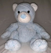 Retired 2003 Ty Pluffies Tinker Pastel Baby Blue Teddy Bear Plush Beanbag Tylux - $11.87
