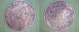 1883-B Swiss 10 Rappen World Coin - Switzerland - $39.99
