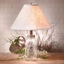 Classic Mason Jar Table Lamp - Solid Glass Ligh... - $79.44
