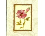 Vintage Blooms Collection 3 Glitter Note Blank Greeting Cards W/Envelops Flower