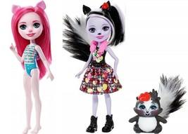 Enchantimals Doll Lot Sage Skunk & Caper Petya Pig - $17.82
