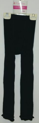 RuffleButts RLKBK4T0000 Ruffle Footless Tights Color Black Size 4T to 6
