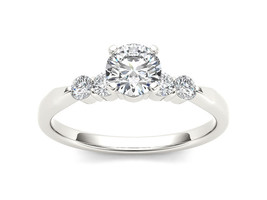 IGI Certified Solid 14k White Gold 0.50 Ct Diamond Classic Engagement Ring - $475.99