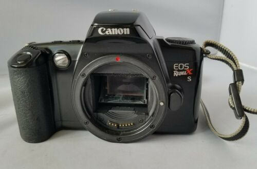 Canon EOS Rebel XS SLR Film Camera With Strap Photo Body Only Lens Not Included