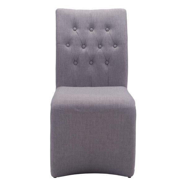 dining chair set, Beige Hyper Elegant upholstered modern dining chair, Set Of 2
