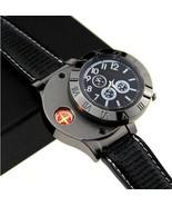 New Men's USB Quartz Wristwatch-Windproof Flameless Cigarette Cigar Ligh... - $49.95