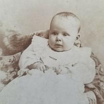 1895 Baby Sisterville W VA CDV Cabinet Card Photo 11 Weeks Old Hellen Sl... - $24.75