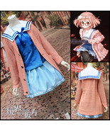 Kyoukai no Kanata Kuriyama Mirai Cosplay Costume Pink Sweater Long Sleev... - $37.99