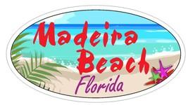 Madeira Beach Oval Bumper Sticker or Helmet Sticker D3730 Florida - $1.39+