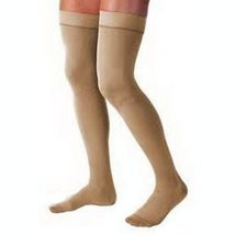 Men's 15-20 mmHg Moderate Support Closed Toe Thigh High Support Sock Size: Large - $51.52