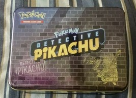 Detective Pikachu 2019 Collector's Chest EMPTY Lunch Box – Pokemon TCG AA26 - $9.74