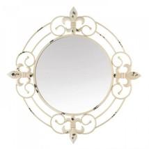 Antique White Fleur-de-lis Wall Mirror - $76.19