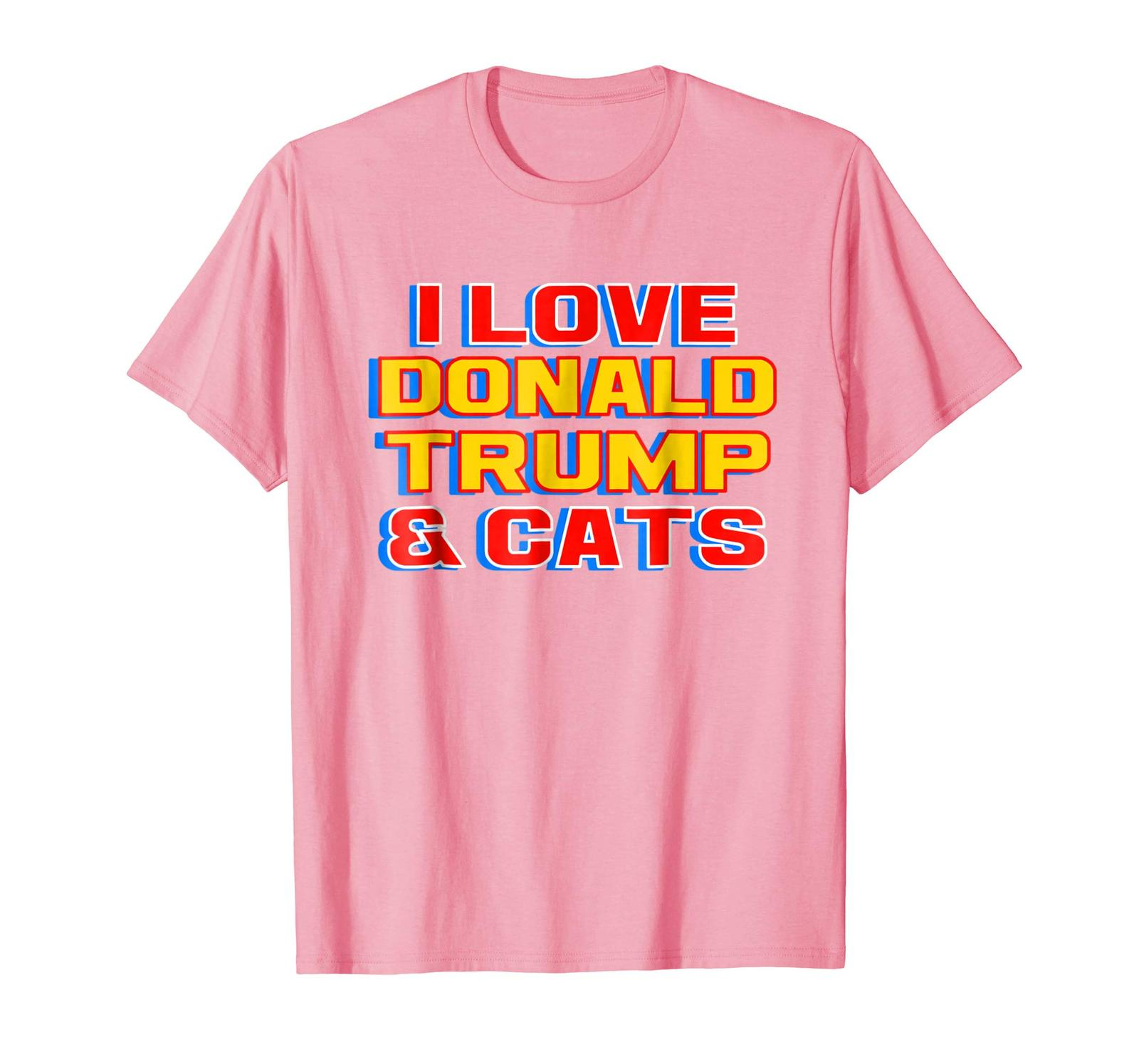 New Shirts - I Love Donald Trump & News Funny New Gift T-Shirt Men Women Men