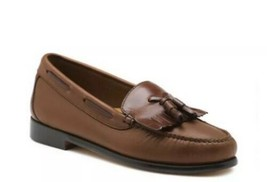 GH Bass Mens Brown Henry Moc Toe Tassels Suede Loafers Boat Shoes Sz 11M - $59.40