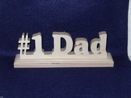 # 1 Dad Desk Nameplate- For Home of office shel... - $9.50