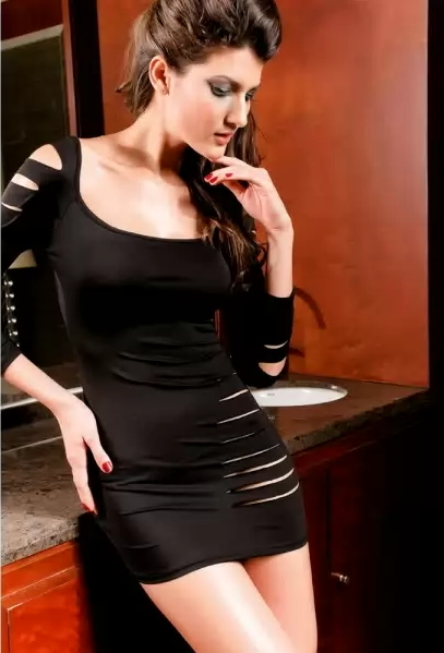 Primary image for Black Sexy Barracuda Club Mini Dress - Ladies Dresses