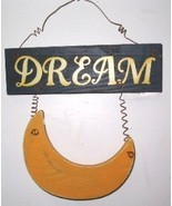 Weathered Wooden Dream with Moon Wall Decor Sign - $6.50