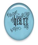You make my Heart Sing Brad Blue Glass-Digital Download-ClipArt-ArtClip - $4.00