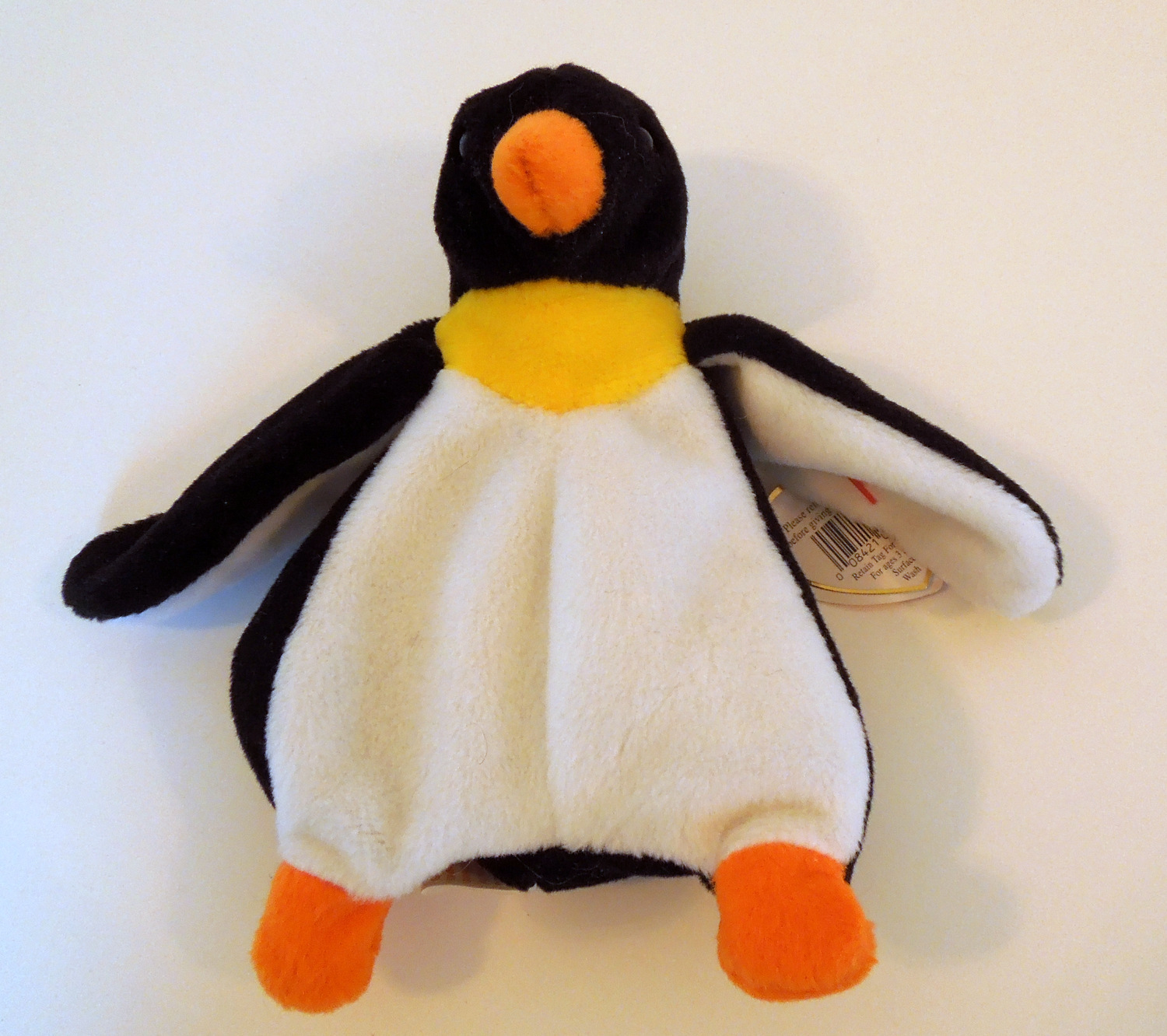 """TY BEANIE BABIES BABY WADDLE the PENGUIN 7"""" STYLE 4075"""