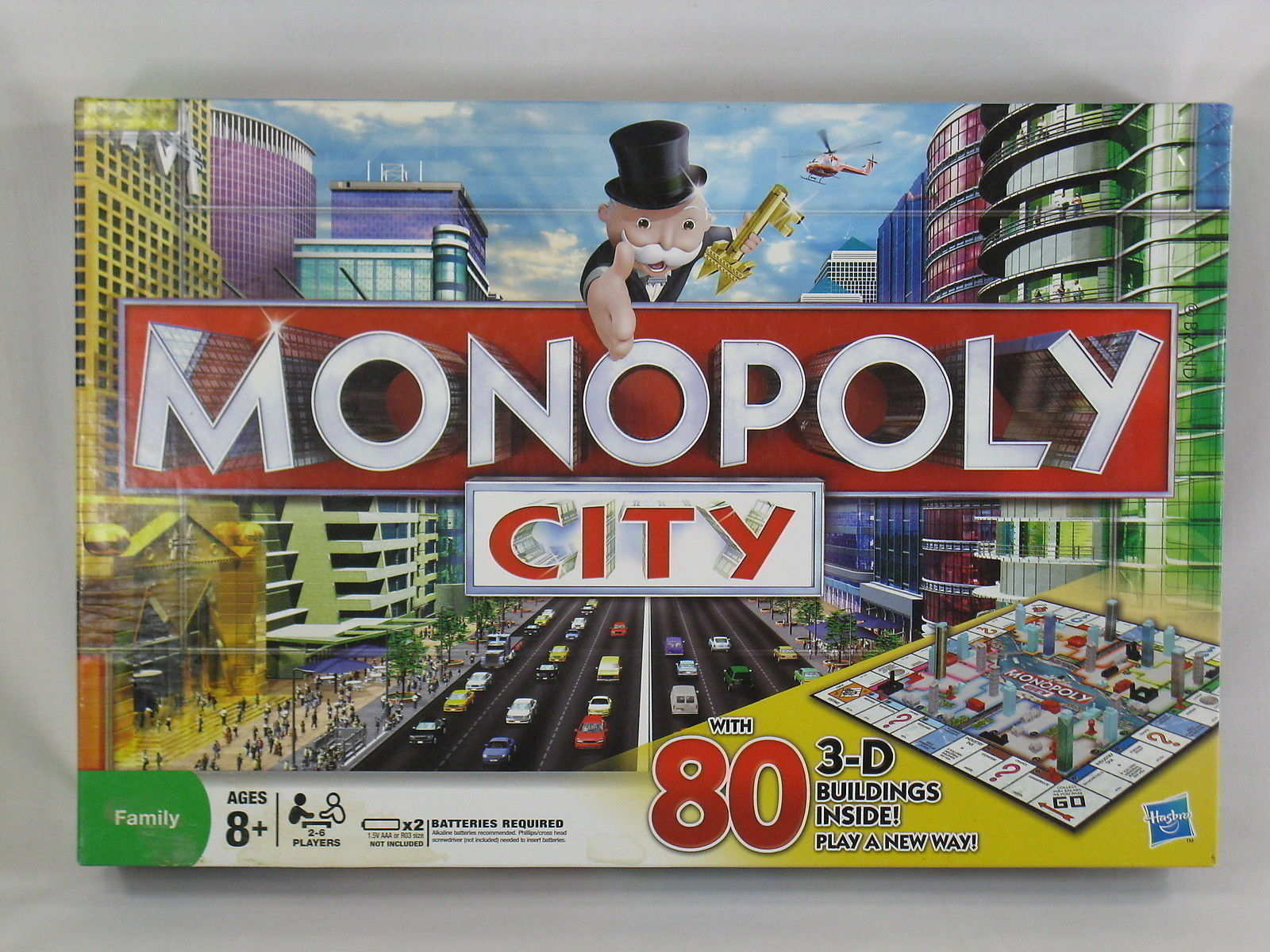 Primary image for MONOPOLY CITY with 80 3-D BUILDINGS HASBRO CANADA 2009 NEAR MINT CONDITION %%