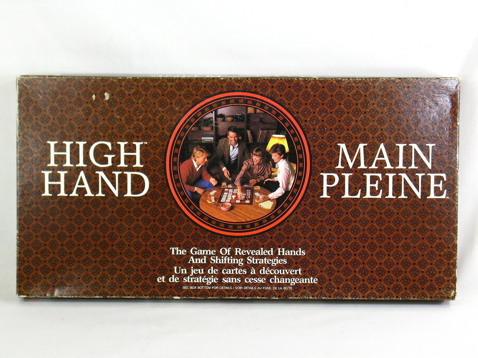 Primary image for High Hand 1984 Board Game Milton Bradley 100% Complete Excellent Bilingual %%