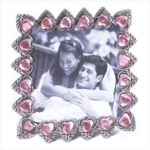 Pewter Frame with Pink Hearts - $5.95