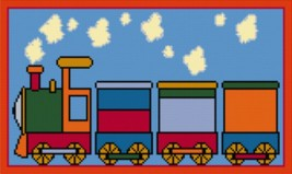 Latch Hook Rug Pattern Chart: Toy Train   Email2u - $5.75