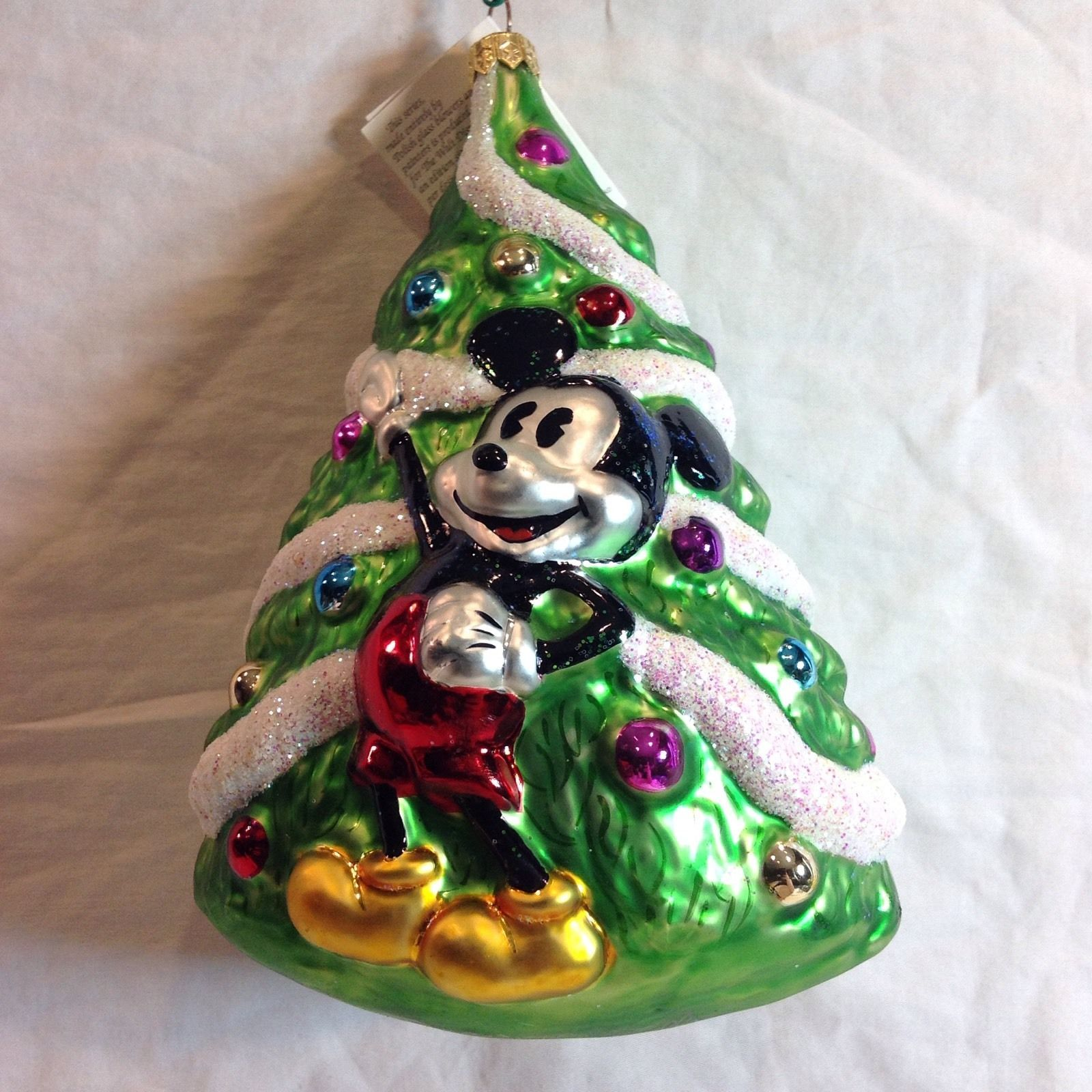 Primary image for Christopher Radko Ornament Disney Mickey Mouse Variant Christmas Tree Pluto 1995