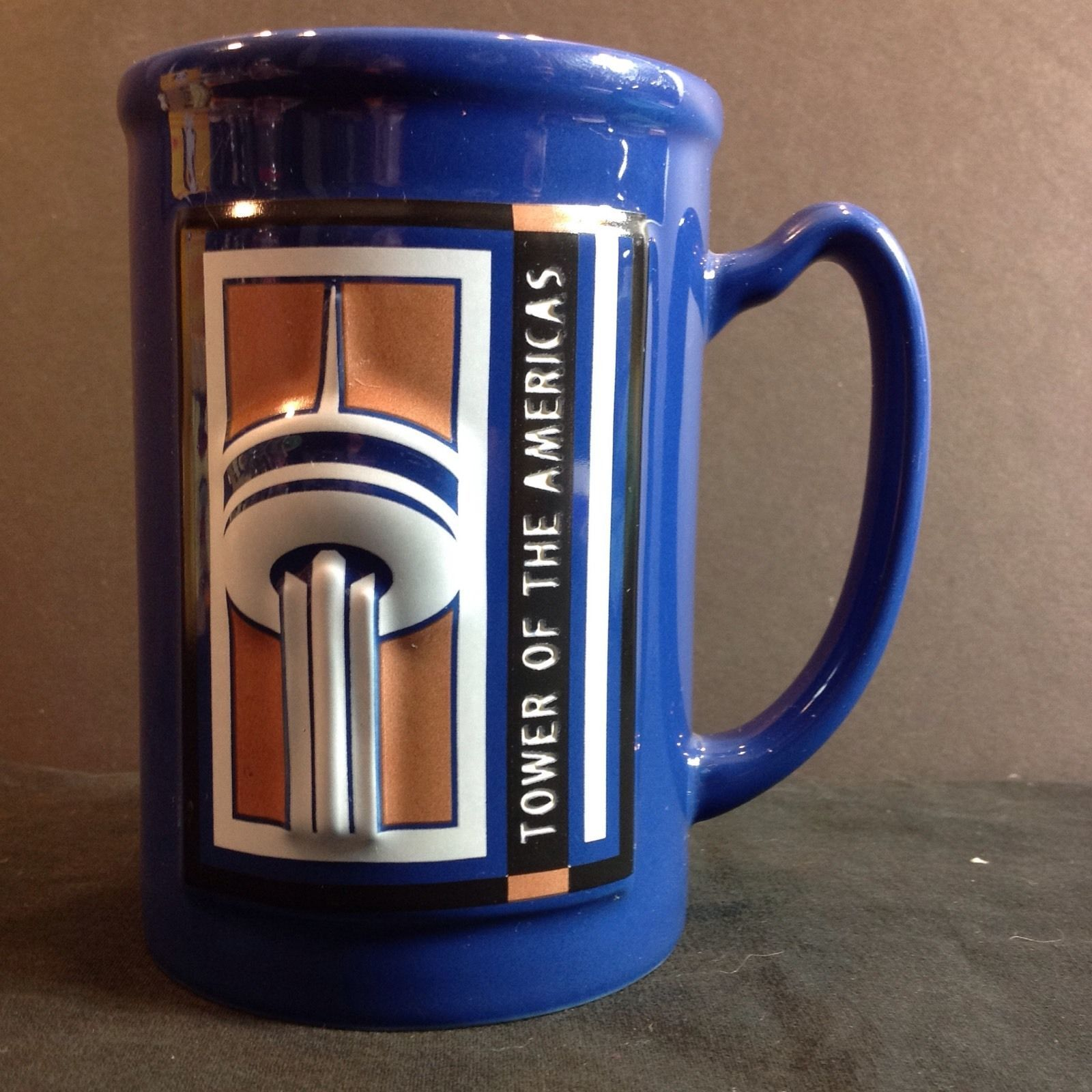 Primary image for Tower of the Americas Tall Mug Landry's Restaurants, Inc. Cup Blue
