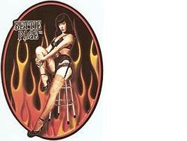 Bettie Page Fire Vintage 3X4 Viny Sticker - $4.50