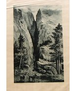 Photogravure Picturesque California J. Muir Julian Rix Satin Print Merce... - $43.17