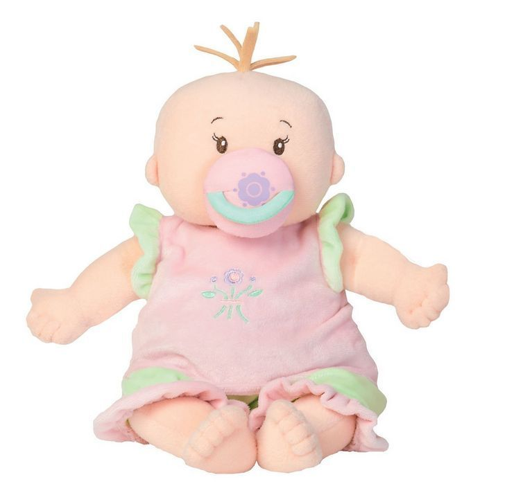 Manhattan Toy Baby Stella Peach Doll Toddler Stuffed w Clothes Embroidered