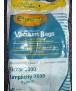 ENVIROCARE RICCAR 8000 SIMPLICITY 7000 TYPE B 6 BAGS IN A PACK VACUUM CL... - $9.99