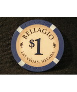 "$1.00 CASINO CHIP FROM: ""THE BELLAGIO"" OF LAS VEGAS, NEVADA - (3011) - $4.49"