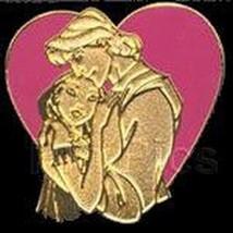 Pocahontas & John Smith Heart CM Lanyard pin Authentic Disney Never Sold... - $9.99