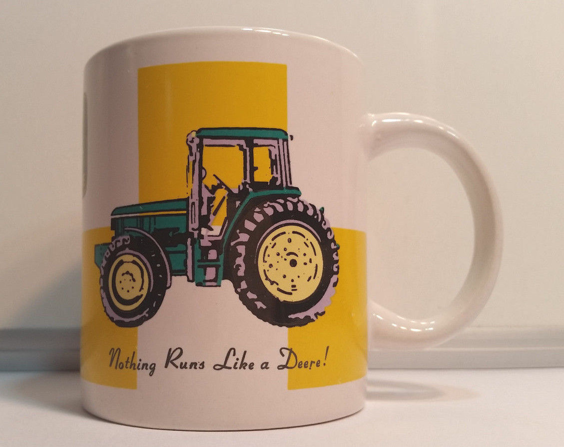 "Primary image for John Deere Coffee Mug ""Nothing Runs Like a Deere"" by Gibson ~ Holds 12 Ounces"
