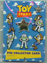 Toy Story 1 Collector card set Buzz Woody 7  Pins in set UK Plastic Disn... - $45.99
