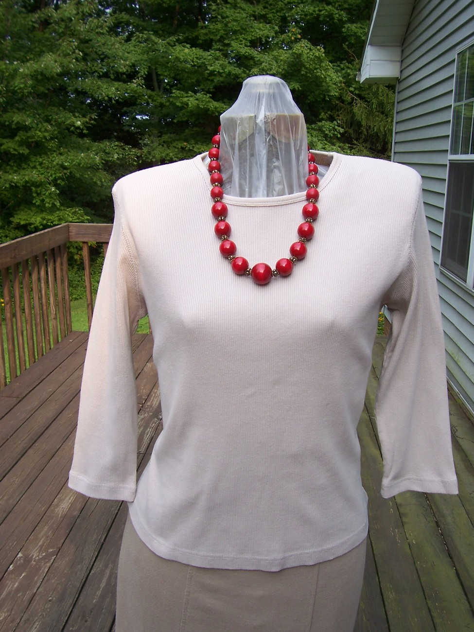Xhilaration tan blouse