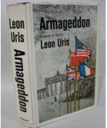 Armageddon A Novel of Berlin leon Uris 1964 HB w/ DJ - $9.95