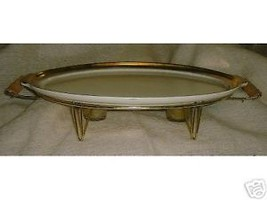 Vintage 1950s NORTHINGTON California Pottery Oval Buffet Platter on Stand - $65.00