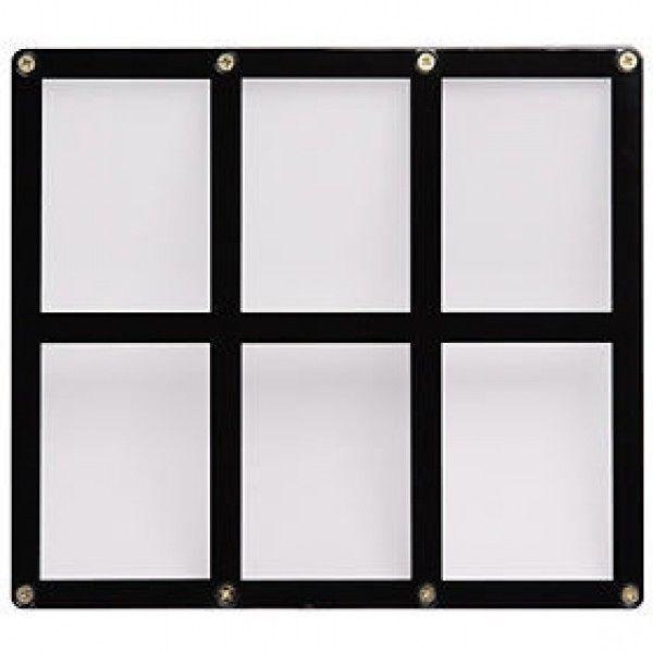 6 TRADING CARD BLACK FRAME SCREWDOWN ULTRA CLEAR HOLDER ULTRA PRO