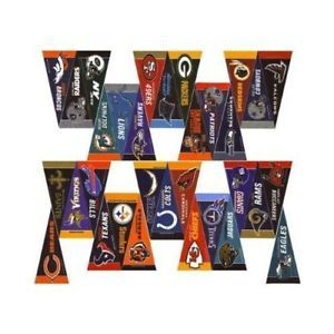 NFL FOOTBALL 32 TEAMS FELT MINI PENNANTS SET FREE SHIPPING