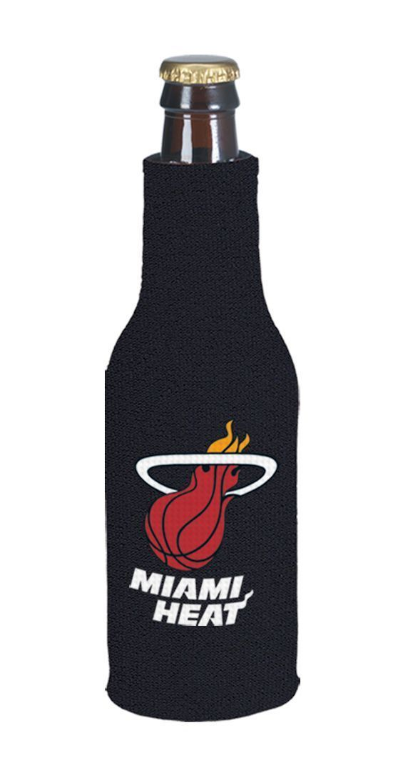 MIAMI HEAT BEER SODA WATER BOTTLE ZIPPER KOOZIE HOLDER NBA BASKETBALL