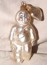 Dept 56 Blown Glass SNOWBABY w/ Sash Snowbabies Christmas Xmas Ornament - $15.00