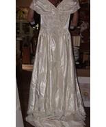 1980s Sweetheart Gowns Wedding Bridal Dress Beaded Pearls Sz 6-8 Headpie... - $450.00