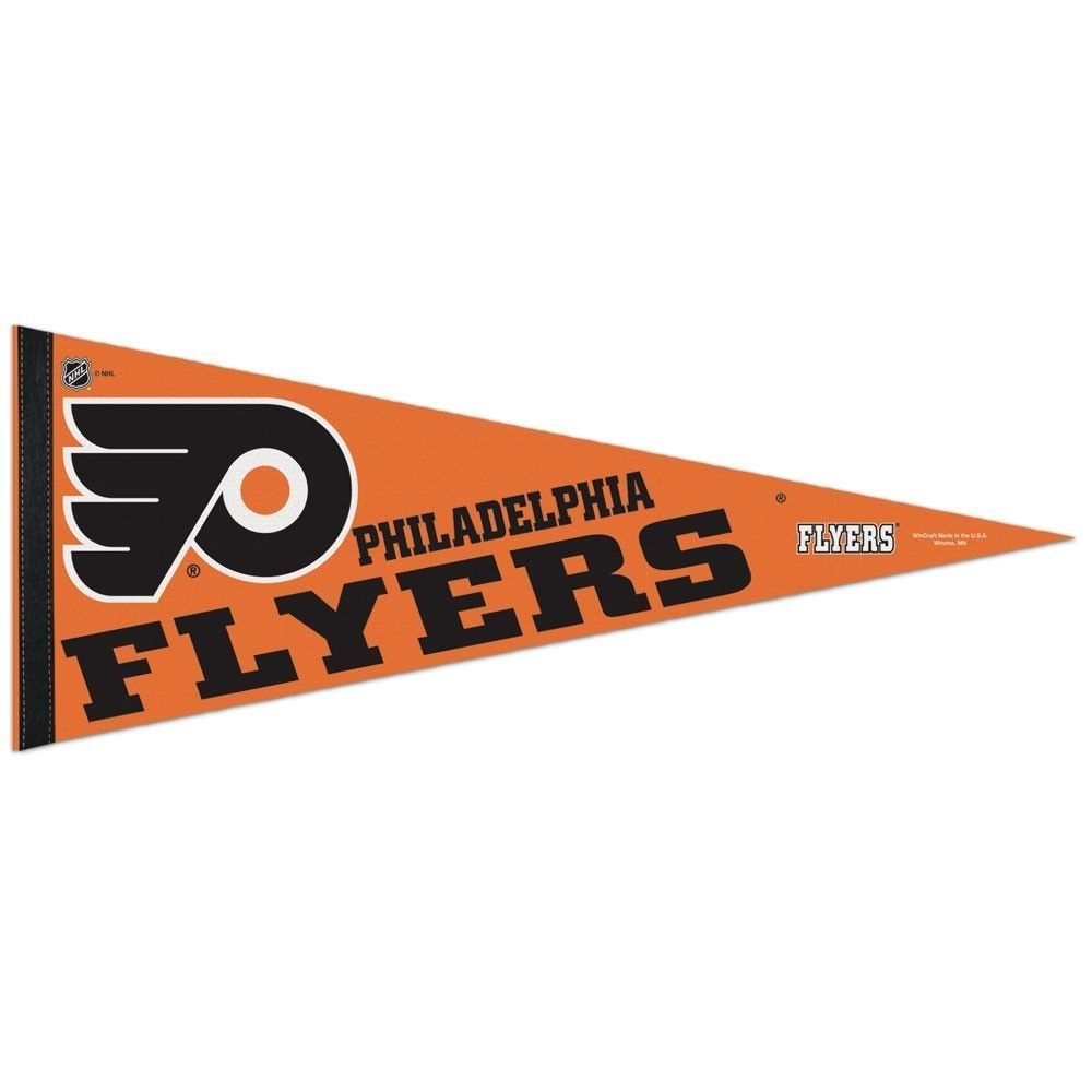 "2 BIG PHILADELPHIA FLYERS TEAM FELT PENNANT 12""X 30"" NHL HOCKEY SHIPS FLAT !"